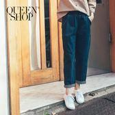 Queen Shop【04011225】鬆緊腰九分彈性牛仔褲 S/M/L*預購*