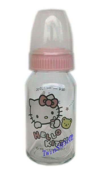 【TwinS伯澄】Hello Kitty - 晶鑽玻璃奶瓶120ml(標準口徑)
