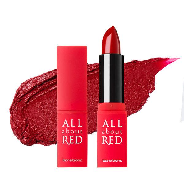 素晴館 韓國Bareblanc 紅色主題女神口紅 ( #02性感深紅Deep Red)(3g)共五色