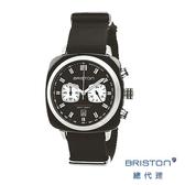 【官方旗艦店】BRISTON 手錶 原廠 17142-SA-BS-1-NB 黑白色 時尚帆布錶帶 男女 生日情人節禮物
