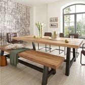 簡約現代大型會議桌loft長桌實木辦公桌電腦桌實木美式咖啡桌餐桌igo     韓小姐