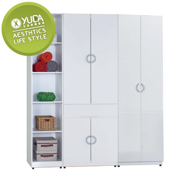 衣櫃【YUDA】凱倫 6尺 波麗漆 純白 衣櫥/櫥櫃 J8F 072-2