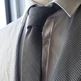 領帶男窄版休閑6CM復古英倫風千鳥格紋羊毛灰色商務正裝純黑百搭 檸檬衣舍