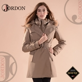 【JORDON 橋登 女 GORE-TEX 二件式大衣外套《卡其》】1966/防水外套/大衣/羽絨衣