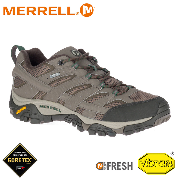 【MERRELL 美國 男 Moab 2 Gore-tex 戶外多功能登山鞋《圓石色》】033335/水陸兩棲/防水/溯溪