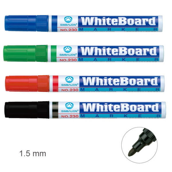 義大文具批發網~雄獅 白板筆 NO.230 用於課堂教學、會議討論、與個人記事等用途。