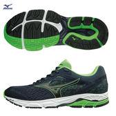 美津濃 MIZUNO  男慢跑鞋 WAVE EQUATE2 (藍綠) 支撐型 中低足弓適用  J1GC184809 【胖媛的店】