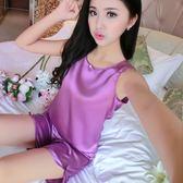 睡衣女夏季性感短袖短褲兩件式裝清新冰絲薄款春秋韓版家居服絲綢