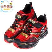 《布布童鞋》Moonstar日本3E寬楦紅黑色兒童機能運動鞋(19~23公分) [ I7Q442A ]