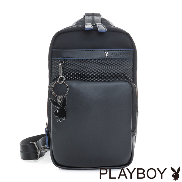 PLAYBOY- 單肩背包 TRENDY系列-雅痞黑