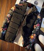 秋冬男士休閒棉衣韓版修身拼接加棉