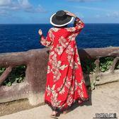 防曬衣 披肩女開衫外套泰國民族風外搭寬松長款度假海邊沙灘雪紡防曬衣潮