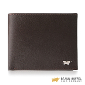 【BRAUN BUFFEL】提貝里烏斯-II系列4卡零錢袋皮夾 -咖啡色 BF348-315-ENY