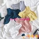 男童無袖純棉背心T恤夏裝兒童寶寶薄款上衣嬰兒【淘嘟嘟】
