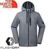 【The North Face 男 快排兜帽外套《灰》】3CI7/連帽外套★滿額送