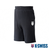 【超取】K-SWISS Ks Waist Band Sweat Shorts棉質短褲-男-黑