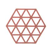 HOLA 北歐幾何三角造形橡膠鍋墊-橘色