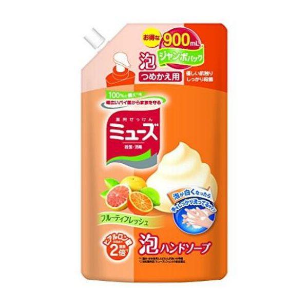 日本 MUSE地球製藥泡沫洗手液補充包-橘柚果香 900ml (0951) 自動給皂機 洗手乳 均適用 -超級BABY