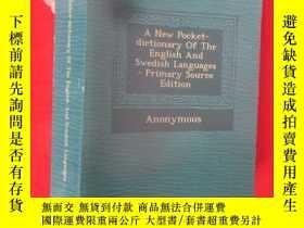 二手書博民逛書店A罕見New Pocket-Dictionary of the