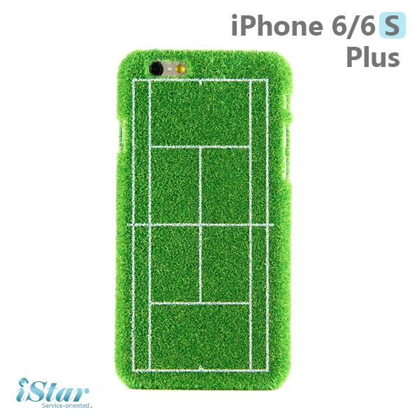 iPhone 6/6s Plus 手機殼 日本 獨家代理 草地/草皮/網球/運動場 硬殼 5.5吋 Shibaful -網球運動場