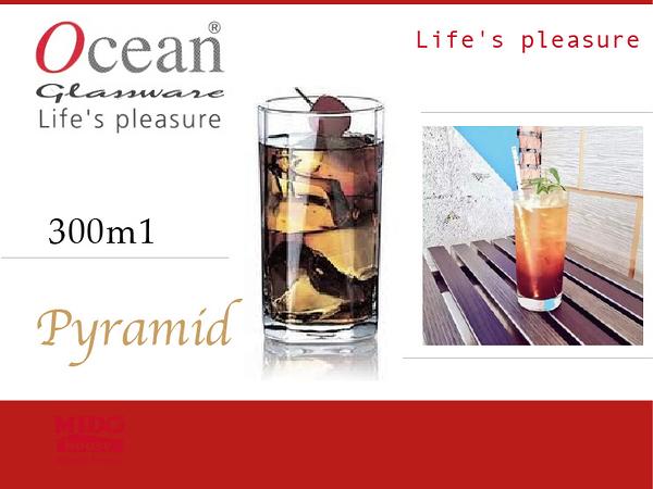 Ocean B2310 Pyramid 金字塔高球杯 -300ml《Mstore》