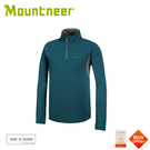 【Mountneer 山林 男 透氣排汗長袖上衣《海藍》】31P31/立領長袖/休閒衫/防曬長袖/快乾抗臭