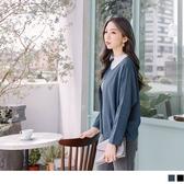 《EA2057-》素色開襟打褶袖短版外套 OB嚴選