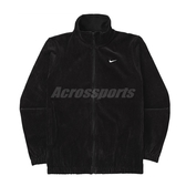 Nike 外套 NSW Velour Jacket 黑 白 女款 燈心絨 立領 運動休閒 【PUMP306】 BV4467-010