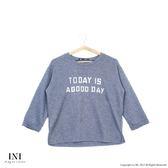 【INI】簡約好感、氣質印花字母寬版上衣.灰色
