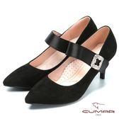 ★2018春夏新品★【CUMAR】搶眼鑽飾 瑪莉珍高跟鞋(黑色)