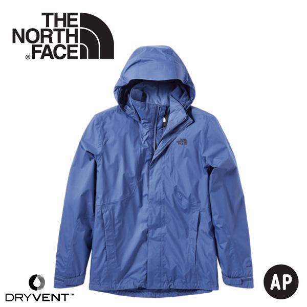 【The North Face 美國 男 DryVent 防水外套《蔭藍》】3SPI/防水外套/防風外套/保暖外套/夾克