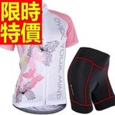 自行車衣 短袖 車褲套裝-排汗透氣吸濕單品超夯女單車服 56y29[時尚巴黎]