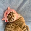 可愛寵物用品頭套粉色小豬貓咪小型犬帽子狗搞怪頭飾裝『洛小仙女鞋』