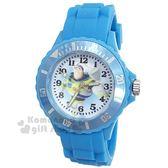 〔小禮堂〕迪士尼 巴斯光年 矽膠運動手錶《藍.舉手》腕錶.運動錶 8014053-04201