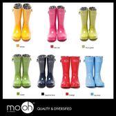 (24hr出貨) 歐美彩色糖果色中筒雨鞋 螢光色 亮面 橡膠 防水 雨靴 mo.oh
