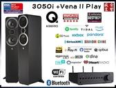 英國 Q Acoustics 3050i 喇叭 + 英國 QUAD Vena II PLAY 無線串流擴大機 - 現貨可視聽