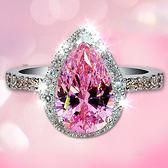 仿真鉆石戒指 女寶石飾品鋯石水晶