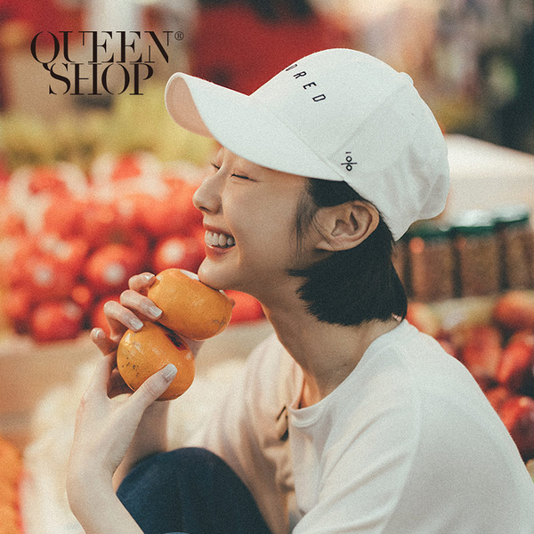 Queen Shop【07020587】HUNDRED刺繡字母配色棒球帽 兩色售*現+預*