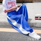 薄款百褶雪紡燈籠褲女式寬鬆收口運動褲ins潮韓版闊腿哈倫褲子 伊鞋本鋪
