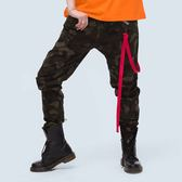 紅色繩帶彈力長褲 STAGE RED RIBBON PANTS 黑色/綠迷彩 兩色