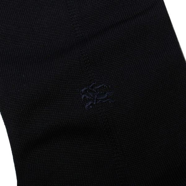BURBERRY經典格紋混毛料紳士襪(深藍)088904-33
