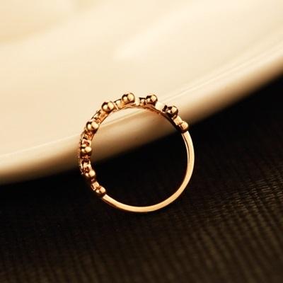 戒指 玫瑰金純銀 鑲鑽-皇冠造型生日情人節禮物女飾品73by24【時尚巴黎】