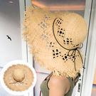 (大人) 天然拉菲草大帽沿毛編草帽  比基尼 泳衣 遮陽帽 防曬帽 橘魔法 magicG 現貨