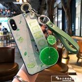 iphone8plus硅膠蘋果7plus檸檬6plus蘋果6檸檬水果腕帶iphonex新款防摔套『韓女王』