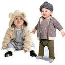 加絨加厚保暖寶寶外套 雙面穿嬰幼兒棉襖 ...