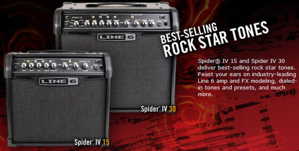 【金聲樂器廣場】LINE 6 Line6 Spider IV 30W 內建效果 電吉他音箱