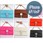 iPhone 6Plus/6sPlus (5.5吋) 山茶花吊墜流蘇皮套 插卡 側翻 手機套 手機殼 保護套 配件