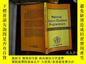 二手書博民逛書店national罕見cancer control program