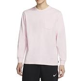 Nike NSW Tee LS M90 Pocket 男 粉 運動 休閒 長袖 DD3875-663
