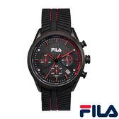 【FILA 斐樂】/三眼橡膠錶(男錶 女錶 Watch)/38-176-001/台灣總代理原廠公司貨兩年保固